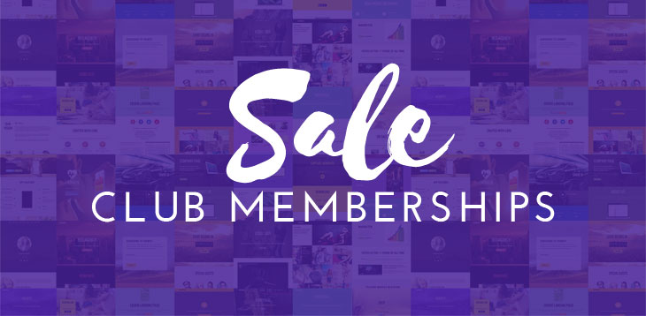 Club Membership Sale