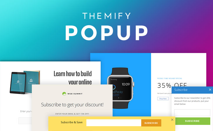 WordPress theme New Free Plugin: Themify Popup!
