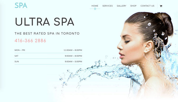 WordPress theme Relax with the New Ultra Spa Skin!