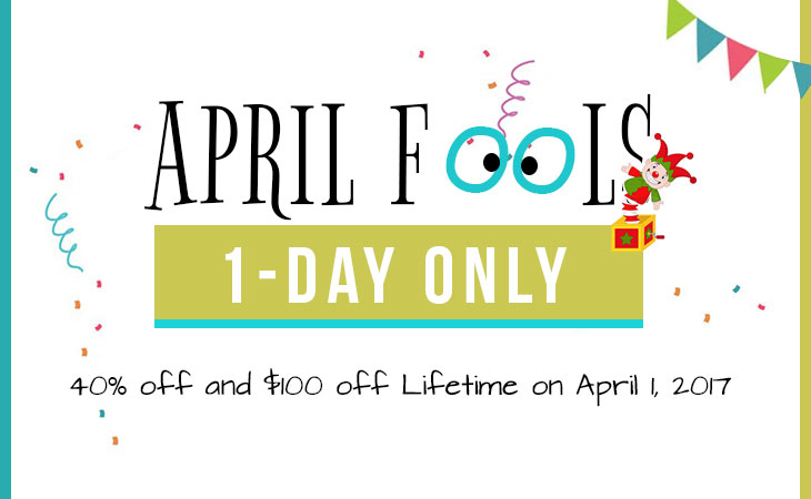WordPress theme April Fool's 40% Off Day Sale – It's No Joke!