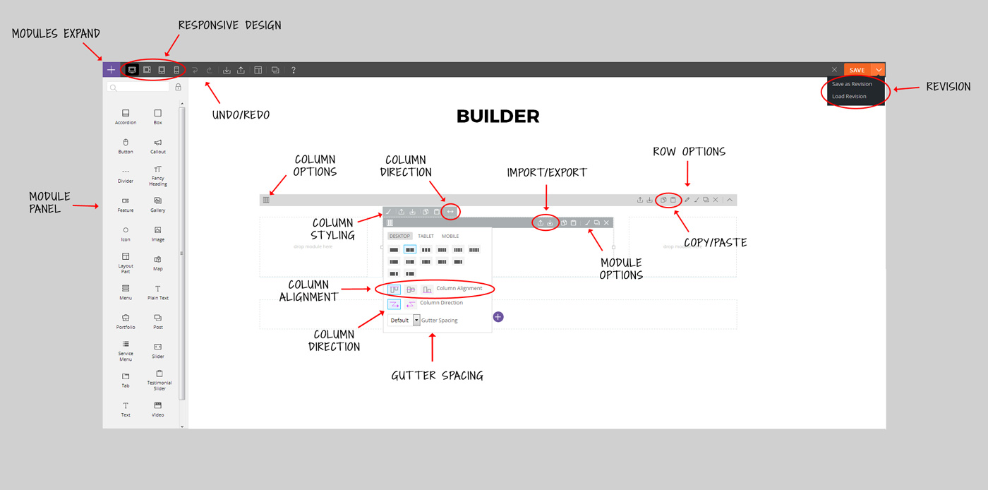 builder frontend overview