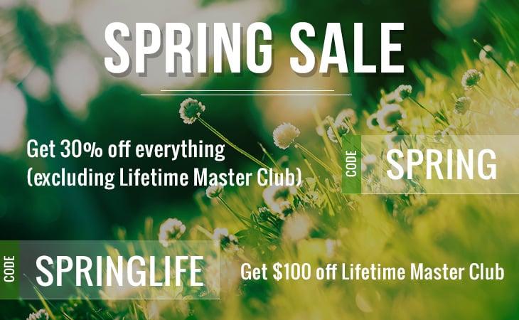WordPress theme 30% OFF Spring Sale