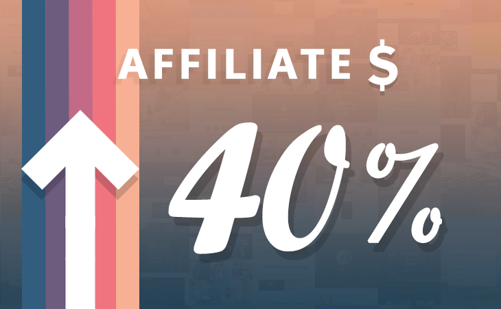 WordPress theme Affiliate Pay Rate Increase – 40%!