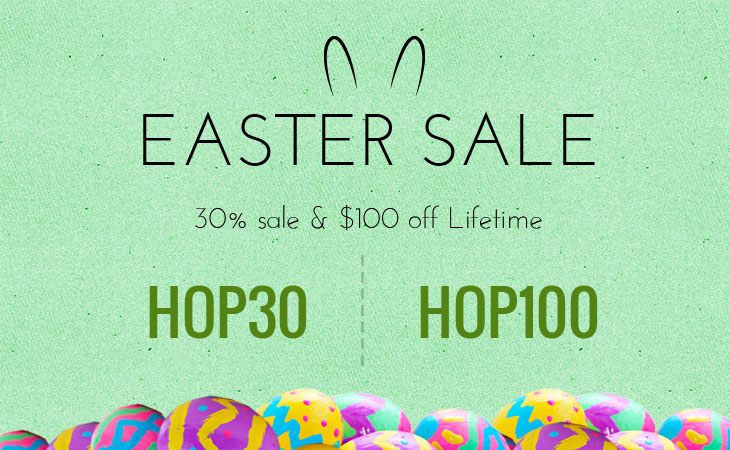 WordPress theme Hop On Over this Easter & Save 30% Off!