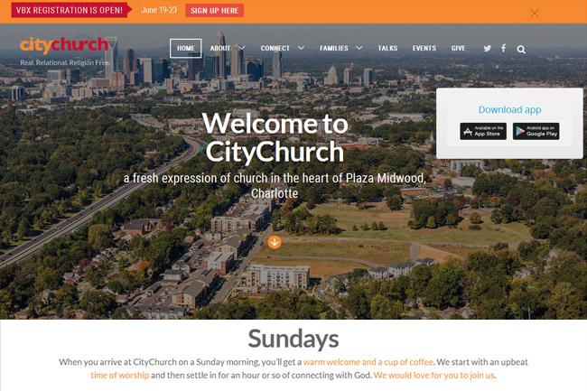 City Church Charlotte screenshot