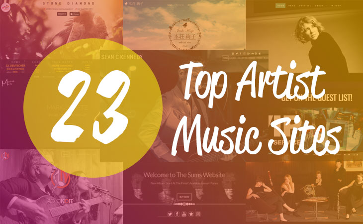 WordPress theme Top 23 Music/Artist WordPress Sites Powered by Themify!