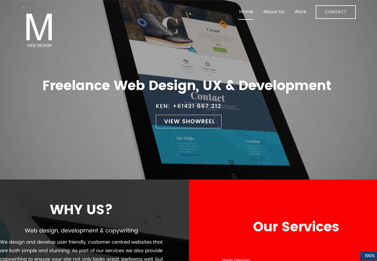 M Web Design Screenshot