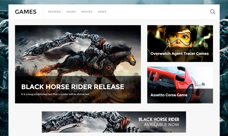 WordPress theme Own the Online World with the New Ultra Games Skin!