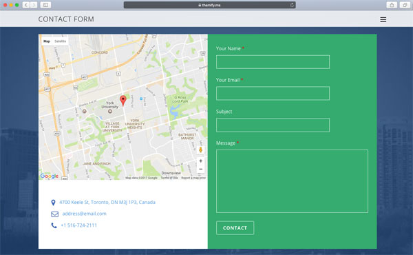 Map Contact Form
