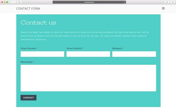Social Contact form