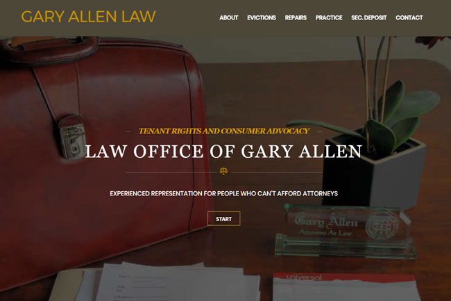 Gery Allen Law screenshot