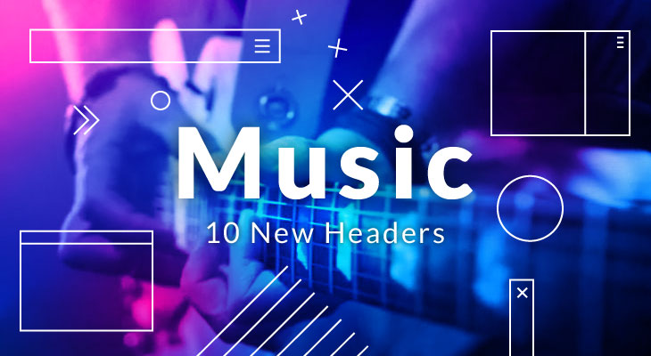 music header design