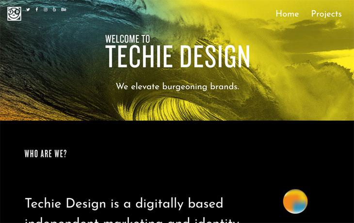 techie design Screenshot