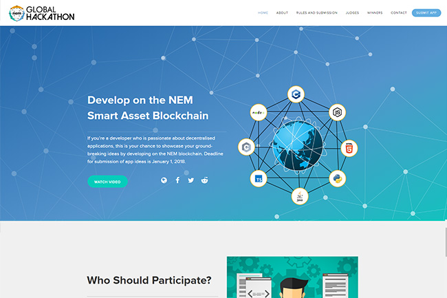 Nem Global Hackathon Screenshot