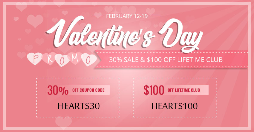 Valentines Day 2018 promotion