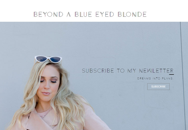 Beyond a Blue Eyed Blonde screenshot