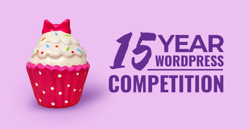 WordPress 15 Year Birthday Competition image