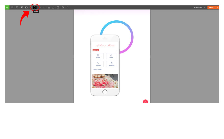 Builder documentation responsive styling mobile view