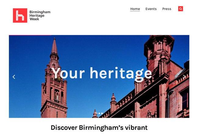 Birmingham Heritage Week Screenshot