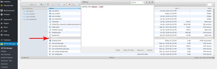 Edit the PHP.ini file