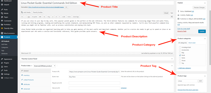 Edit Product Information