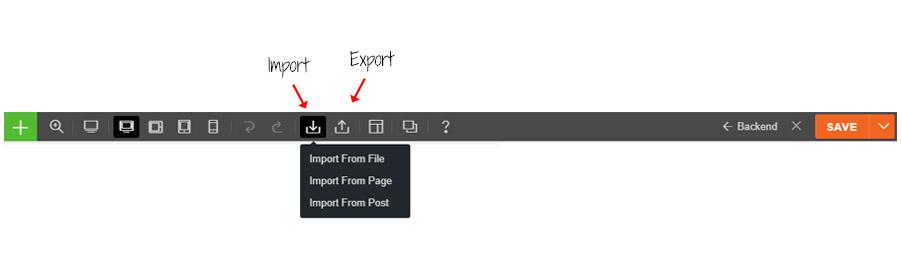 builder export import