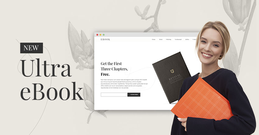 Themify Ultra eBook Skin Homepage