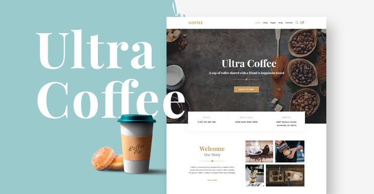 Themify Ultra Coffee Skin Homepage