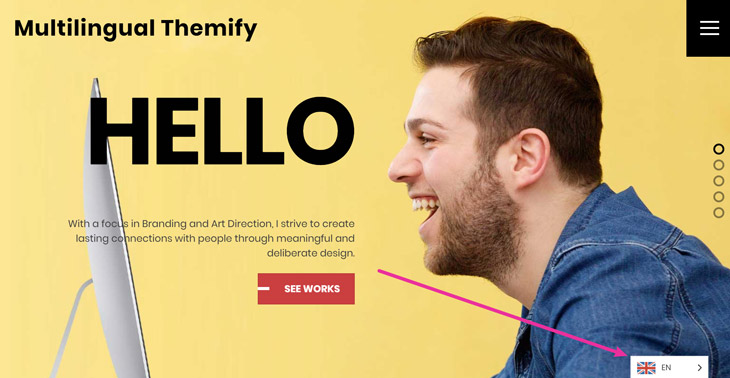 Themify Tutorial Multilingual Site Ultra WordPress Theme