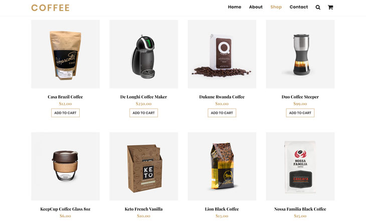 Themify Ultra Coffee Skin Online Shop