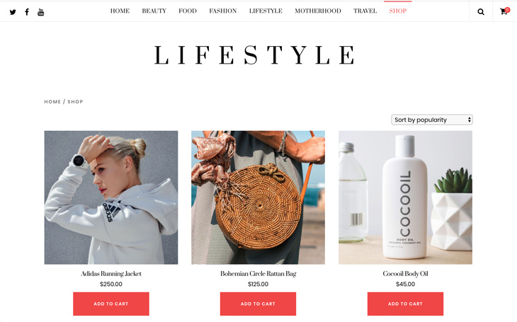 Themify Ultra Lifestyle Skin Online Shop