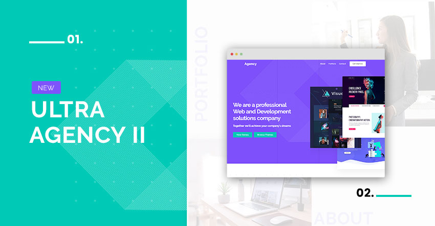 Themify Ultra Agency 2 Skin Homepage