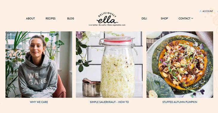 Tutoriel Themify Top 10 des blogs de style de vie Délicieusement Ella