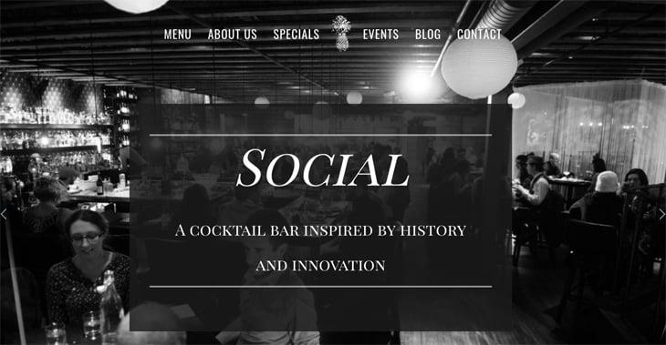 Social Cocktail Bar Themify Ultra Theme
