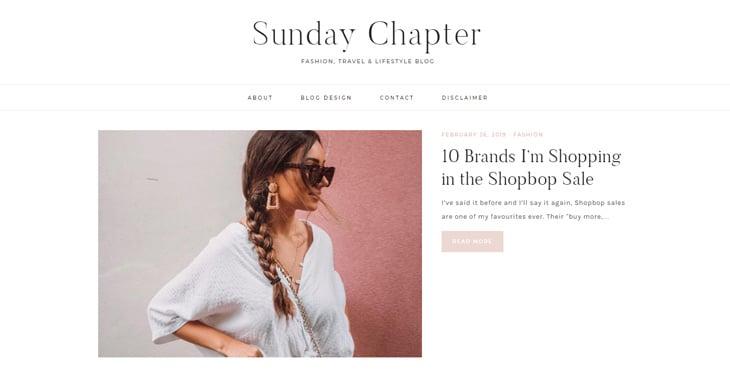 Tutoriel Themify Top 10 des blogs de style de vie Le chapitre du dimanche