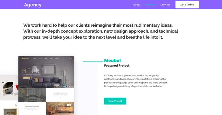 Themify Ultra Agency 2 Skin Portfolio Page