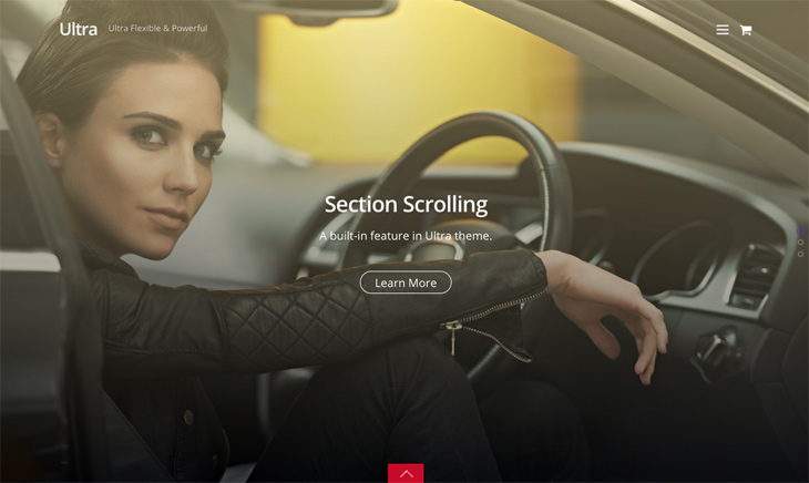 Themify Ultra Section Scrolling Premium WordPress Theme