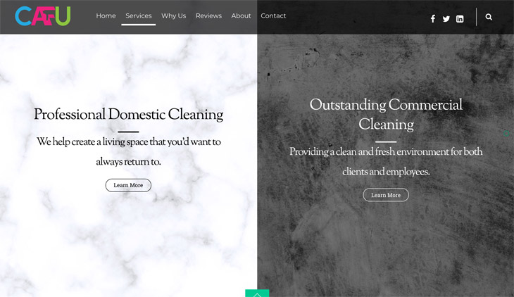 CAFU Cleaning Services WordPress Themify Ultra Theme