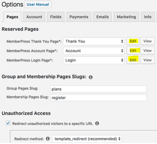 WordPress Tutorial MemberPress Options