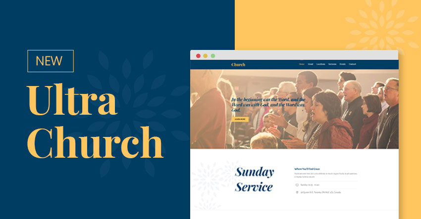 Themify Ultra Church Skin WordPress Church Theme