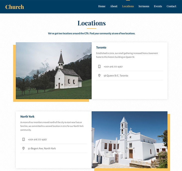 Themify Ultra Church Skin WordPress Church Themes