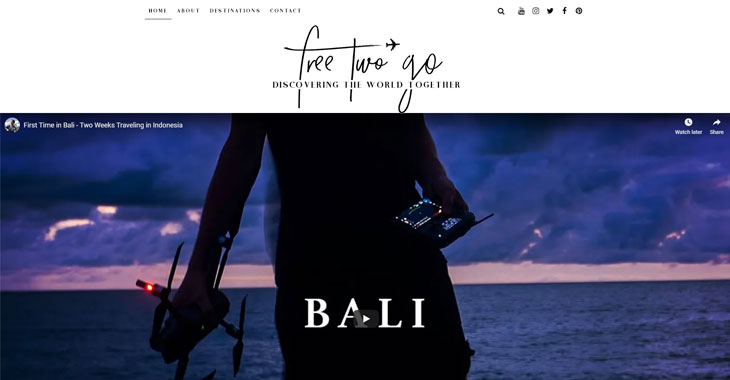 Free Two Go Themify Lifestyle Blog screenshot