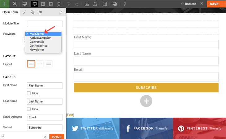 Themify Tutorial How to Setup Email Newsletters MailChimp & Themify