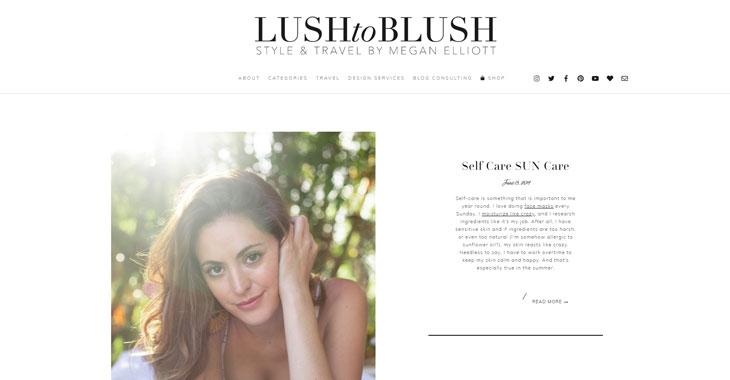 Lush to Blush Themify Lifestyle Blog screenshot