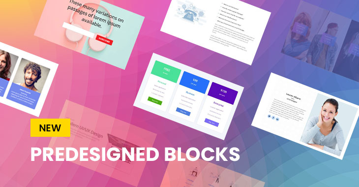 Themify WordPress Themes New Feature Predesigned Blocks