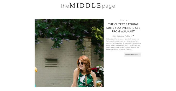 The Middle Page Lifestyle Blog Themify screenshot