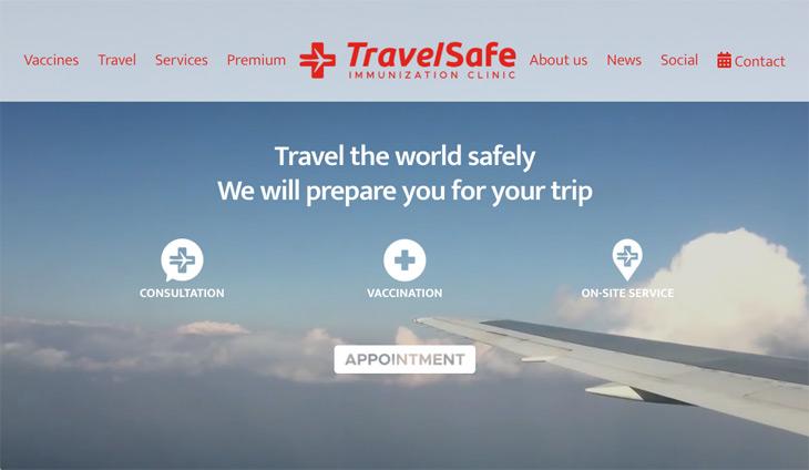 TravelSafe Immunization Clinic WordPress Themify Ultra Theme