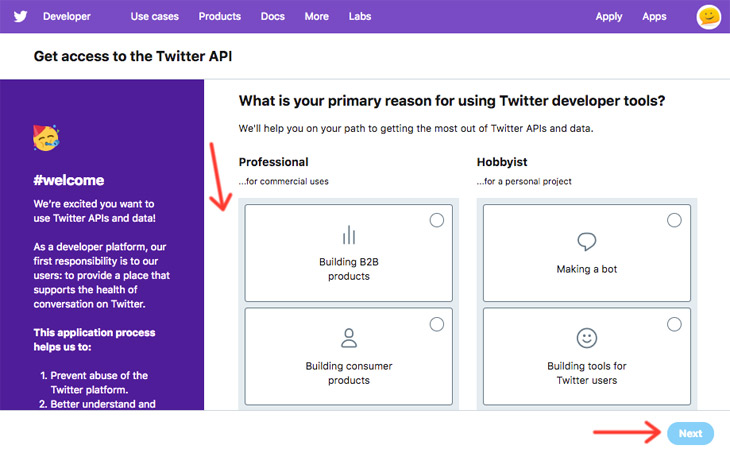 Themify Documentation Twitter Setting Up API
