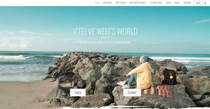 Weef's World Themify Lifestyle Blog screenshot