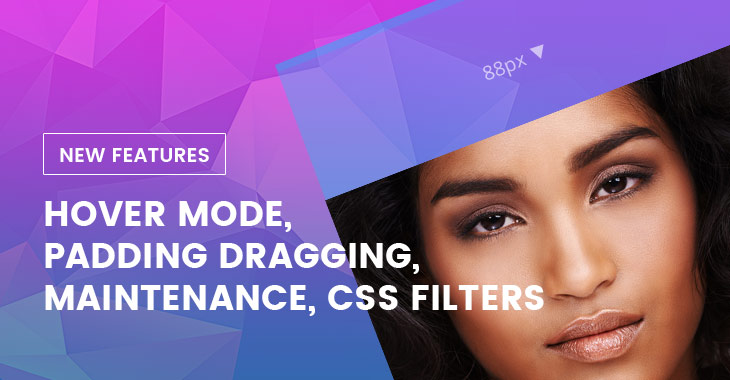 Themify WordPress New Builder Features Hover Mode Padding Margin Dragging CSS Filters